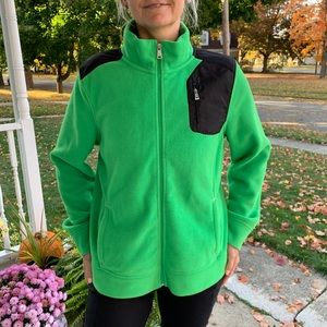 Lauren Ralph Lauren Fleece Jacket ZIP Sz XL